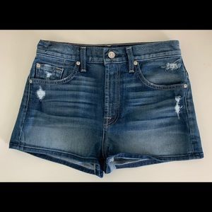 7 For All Mankind High Waisted Jean Shorts